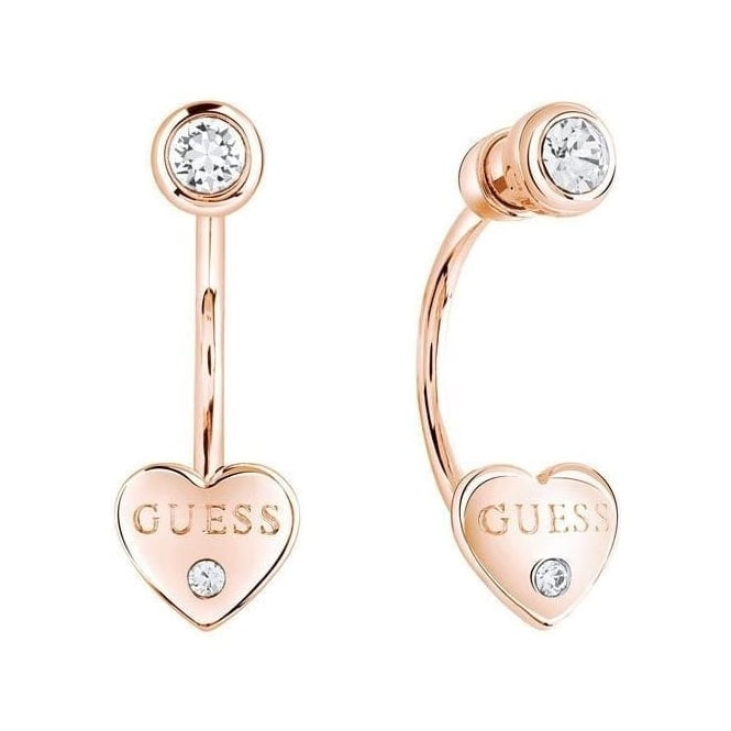 Guess Ladies Guessy Earrings Rose Gold Jewellery From Market Cross Jewellers Uk