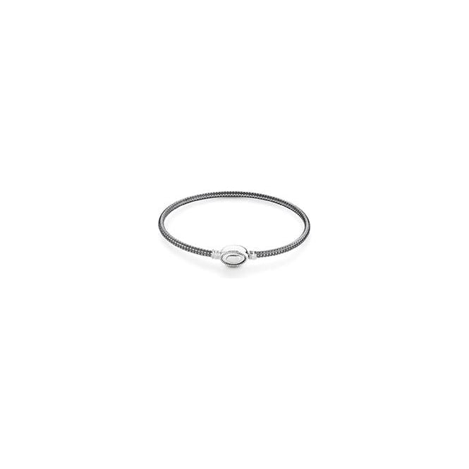 Chamilia Oval Touch Bracelet Grain Texture Oxidised Chamilia From