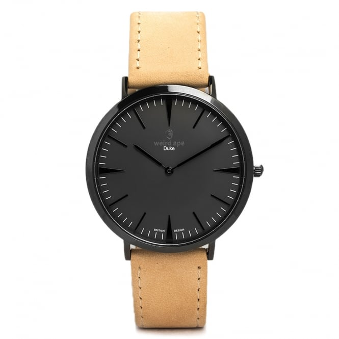 Weird Ape Duke All Black Sandstone Leather Watch WA02-005402