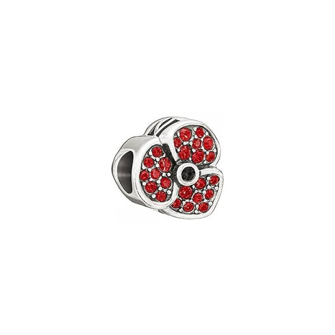 Chamilia Jeweled Poppy - Red Swarovski 2025-0993
