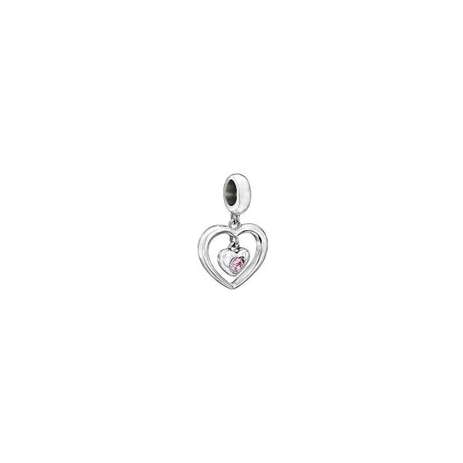 Chamilia Radiant Heart Pink - 2025-1054