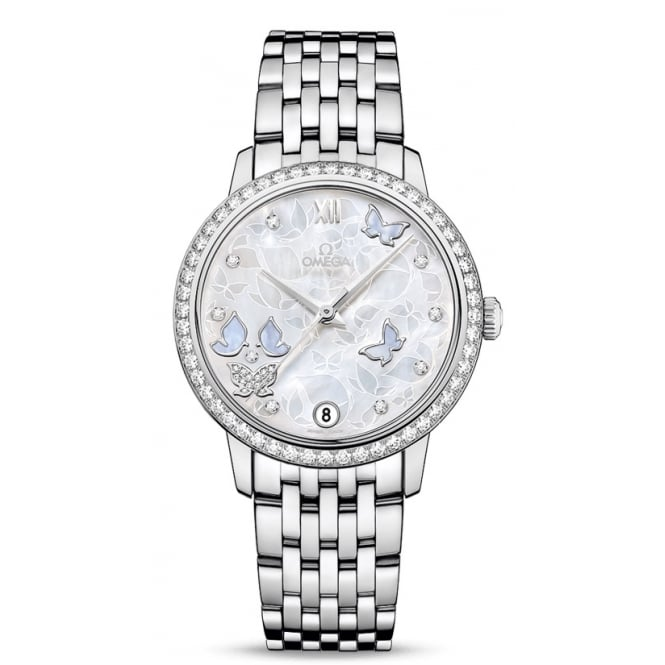 Omega Ladies 'Butterfly' 18ct White Gold Watch - 424.55.33.20.55.003