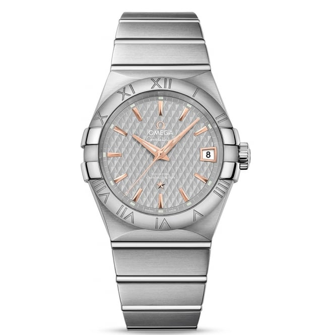 Omega Men's Steel Constellation Co-Axial 38mm 123.10.38.21.06.002