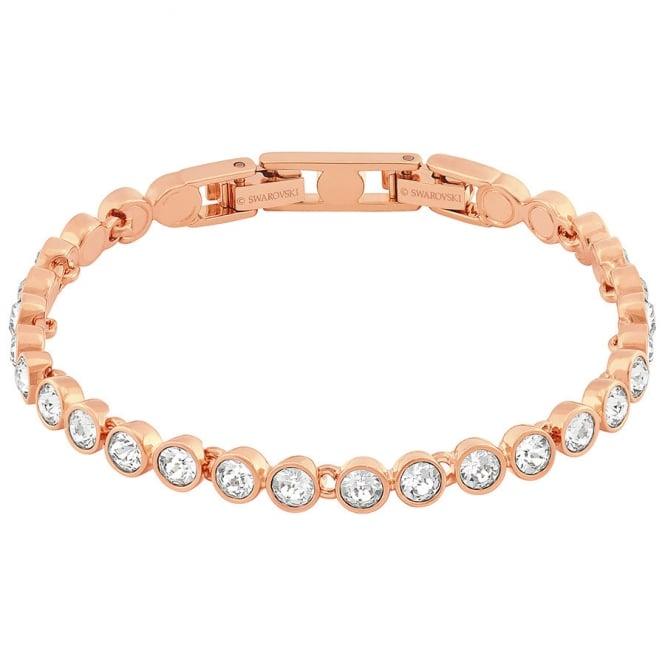 Las Tennis Bracelet White Rose Gold Plating 5039938