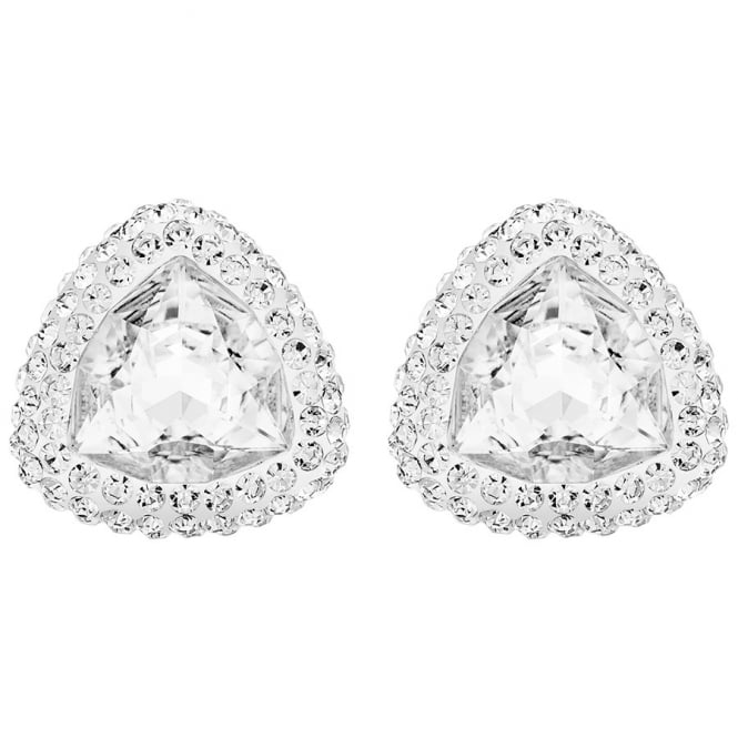 Swarovski LADIES BEGIN STUD PIERCED EARRINGS, WHITE, PALLADIUM PLATING 5098511