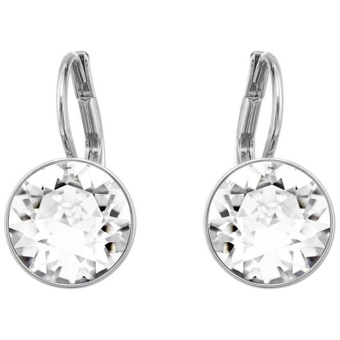 Las Bella Mini Pierced Earrings White Rhodium Plating 5085608