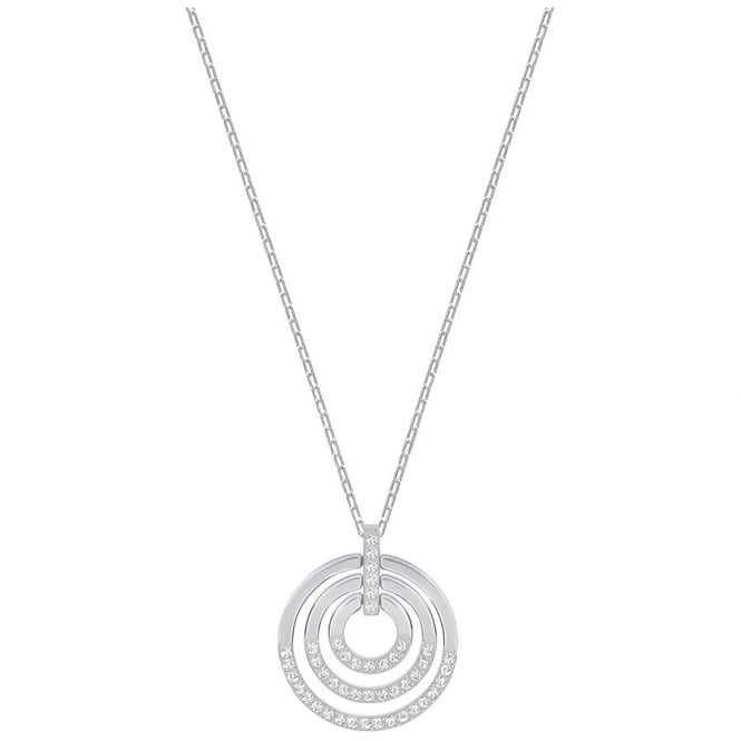 Swarovski LADIES CIRCLE PENDANT, MEDIUM, WHITE, RHODIUM PLATING 5290187