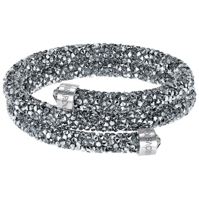 Swarovski LADIES CRYSTALDUST DOUBLE BANGLE, GREY