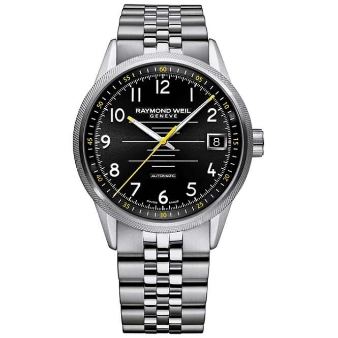 Raymond Weil Mens Stainless Steel Freelancer Automatic Watch 2745-ST-05200