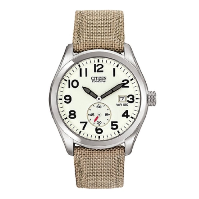 Citizen Mens Khaki Eco-Drive Watch BV1080-18A