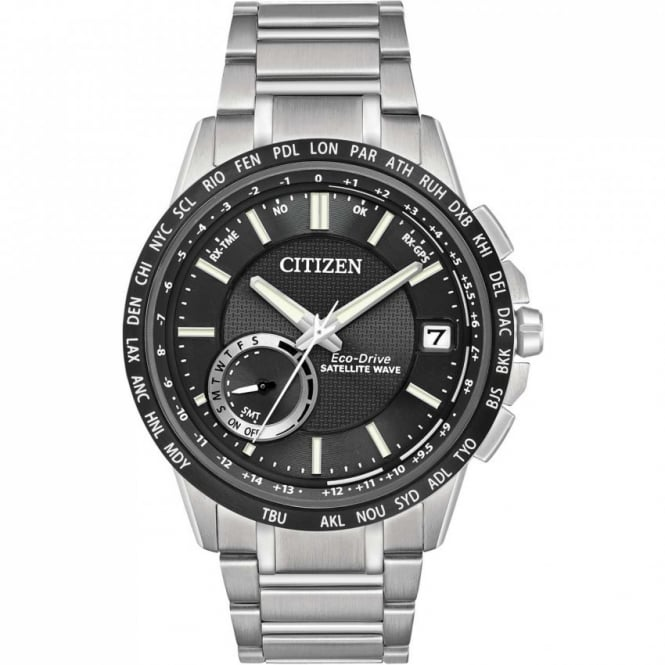 Citizen Mens Satellite Wave World Time GPS Watch - CC3005-85E