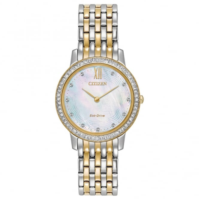 Citizen Ladies Silhouette Crystal Eco-Drive Watch - EX1484-57D
