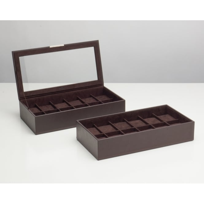 Wolf Stackable Watch Box (Set of 2) - Brown 319706