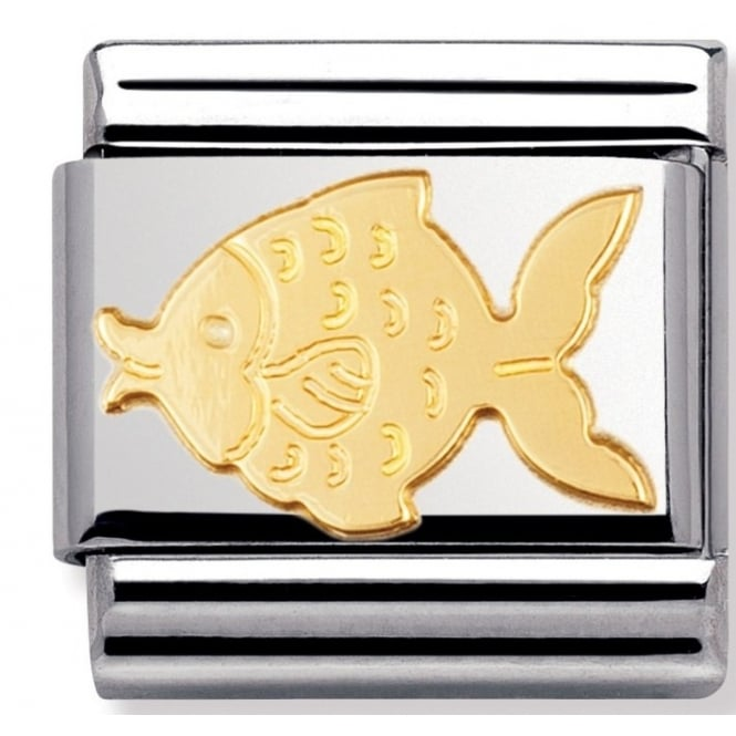 Nomination Classic Gold Fish Charm
