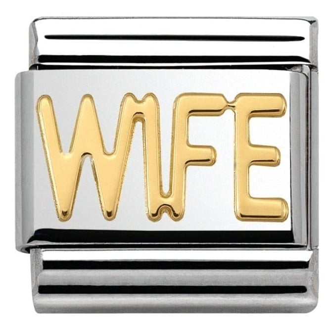 Nomination Classic Gold Wife Charm