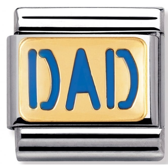 Nomination Classic Gold Dad Charm