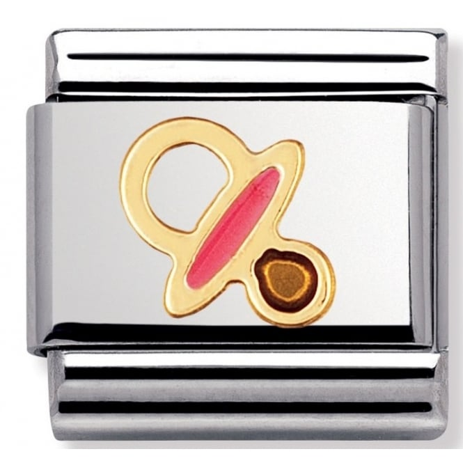 Nomination Classic Gold Pink Dummy Charm