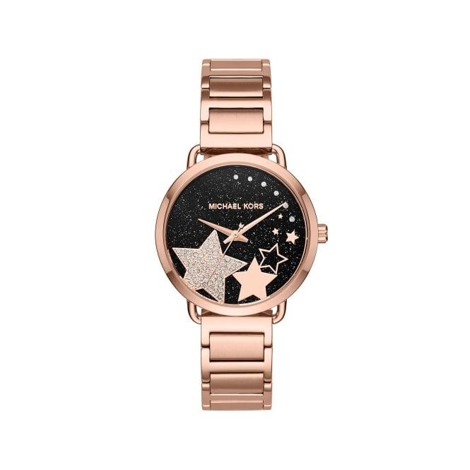 Ladies Michael Kors Rose Gold Tone Portia Watch Mk3795