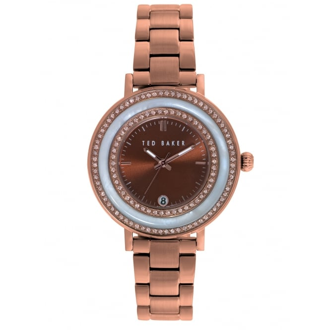 Ted Baker Ex-Display Ladies Rose Gold Plated Watch. TE4107