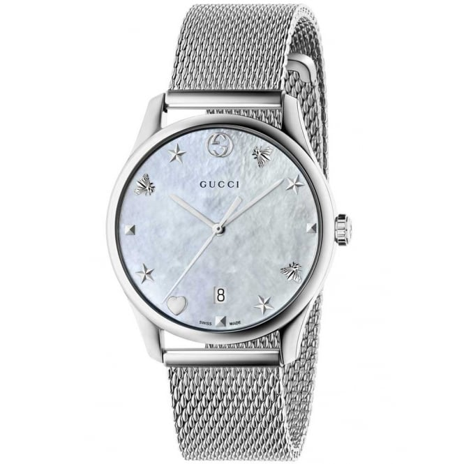 Gucci Timepieces Ladies Stainless Steel G-Timeless Slim Watch. YA1264040
