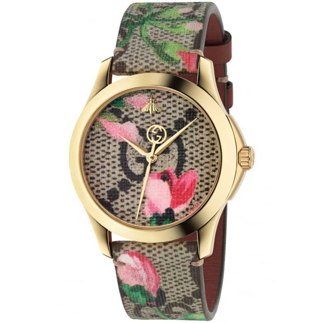 Gucci Timepieces Ladies Pink Blooms G-Timeless Watch .YA1264038