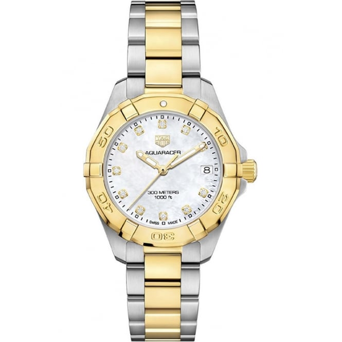 Tag Heuer Ladies Bi-Metal Aquaracer Watch. WBD1322.BB0320