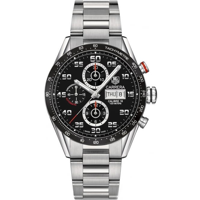 Tag Heuer Men's Stainless Steel Carrera Calibre 16 Day Date Watch. CV2A1R.BA0799