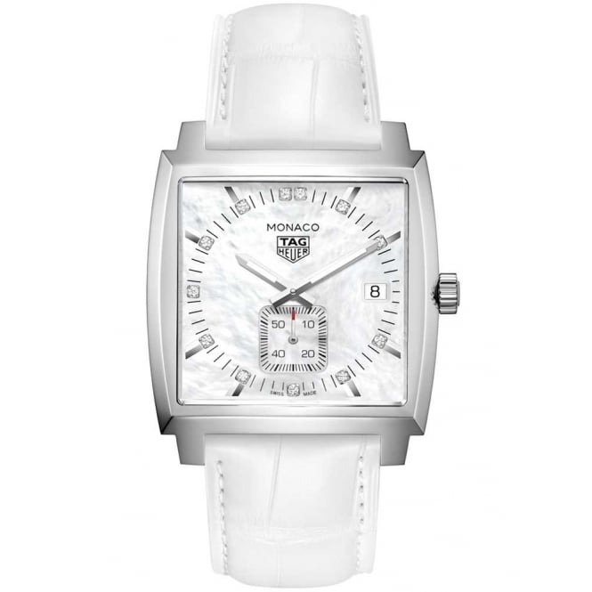 Tag Heuer Ladies Quartz Monaco Watch. WAW131B.FC6247