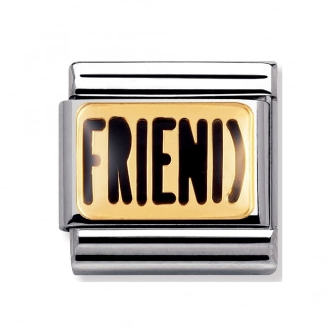 Nomination Classic Gold Friend Charm - 03023203