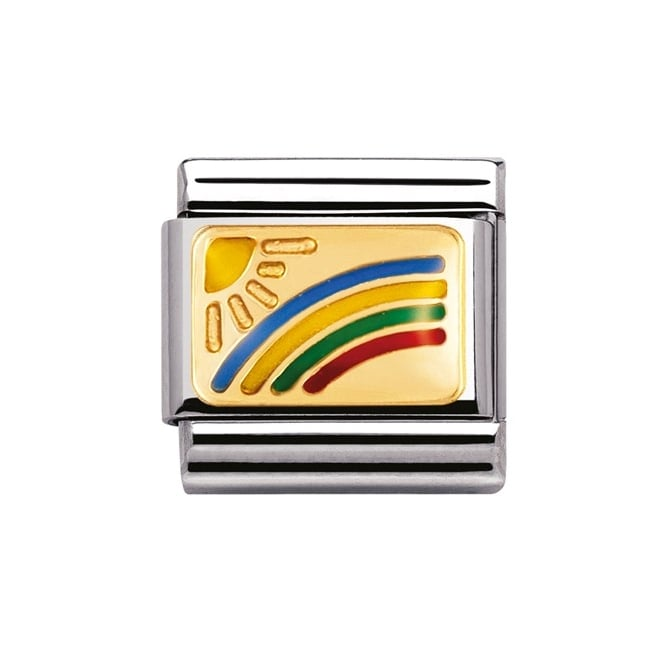 Nomination Classic Gold Rainbow Charm - 03020801