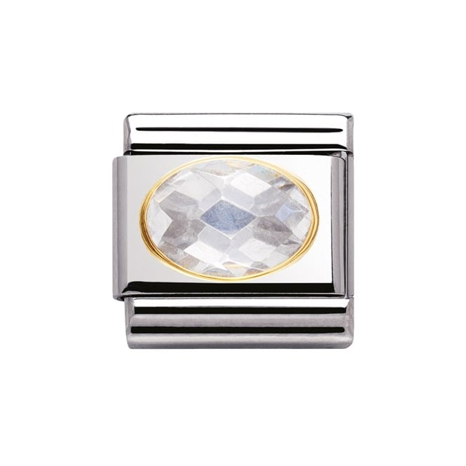 Nomination Classic Gold White Facet Charm 030601010