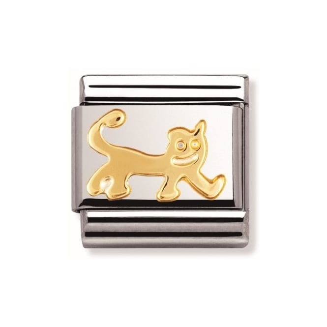 Nomination Classic Gold Cat Charm - 03011221