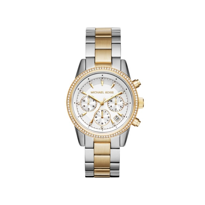 Michael Kors Ladies Two Tone Ritz Watch MK6474