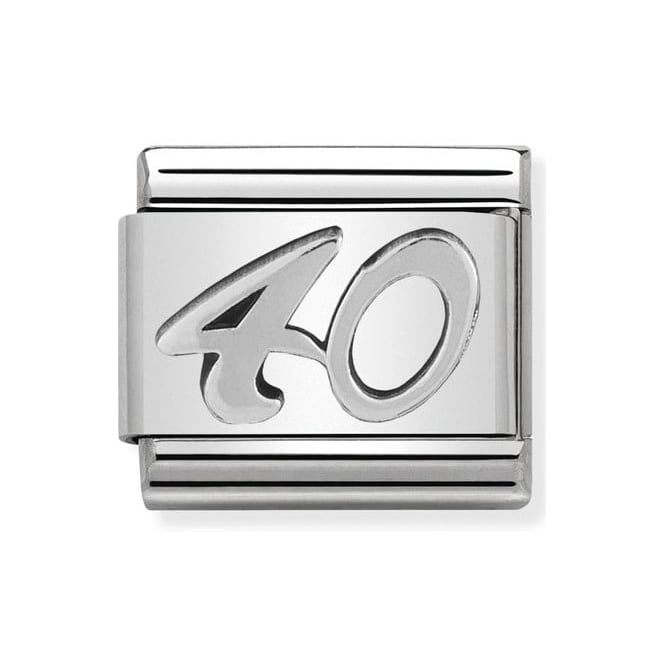 Nomination Classic Silver '40' Charm 330101/23