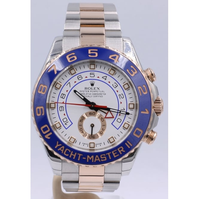f295f64584a51 Pre-Owned Rolex Men s Stainless Steel and Everose Gold Yacht-Master ...