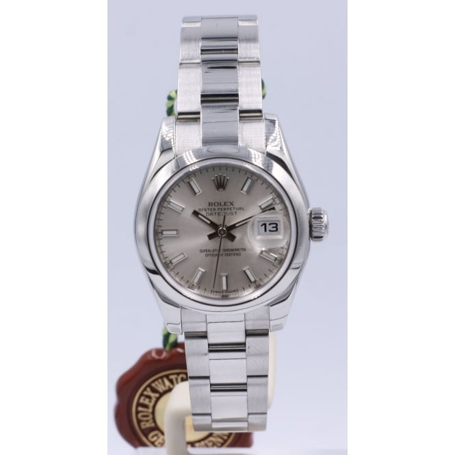 Pre-Owned Rolex Ladies Stainless Steel DateJust Watch. 179160