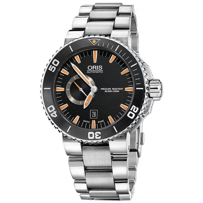 Oris Men's Small Second Aquis Date Watch. 01 743 7673 4159-07 8 26 01PEB