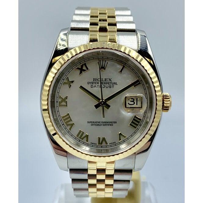 50a06d1f9ec Pre-Owned Rolex Men s Bi-Metal Rolex DateJust Watch. 1162333 - Pre ...
