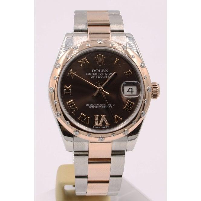 f8cc7cff54e Pre-Owned Rolex Ladies Bi-Metal Everose And Steel DateJust Watch ...