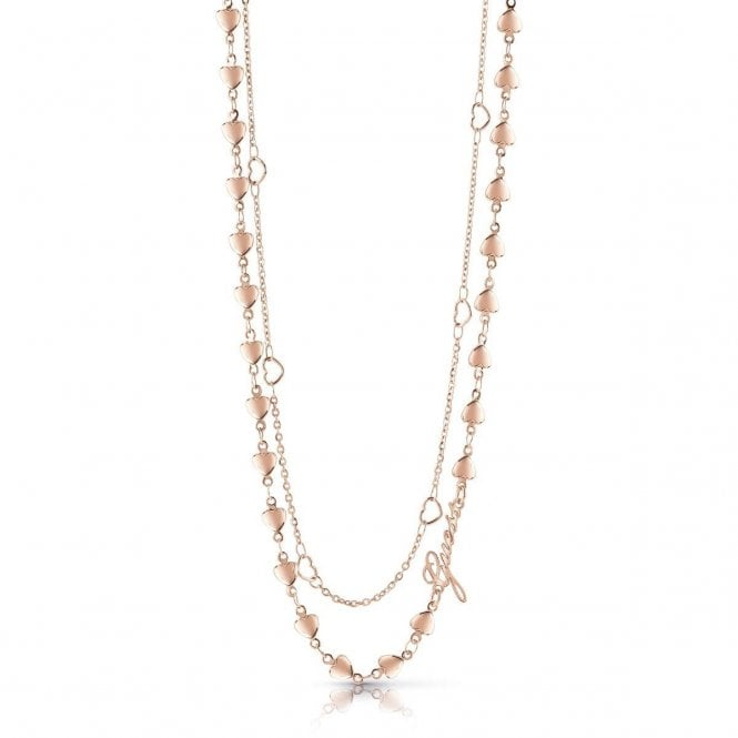 Guess Rose Gold Plated Necklace Jewellery From Market Cross Jewellers Uk
