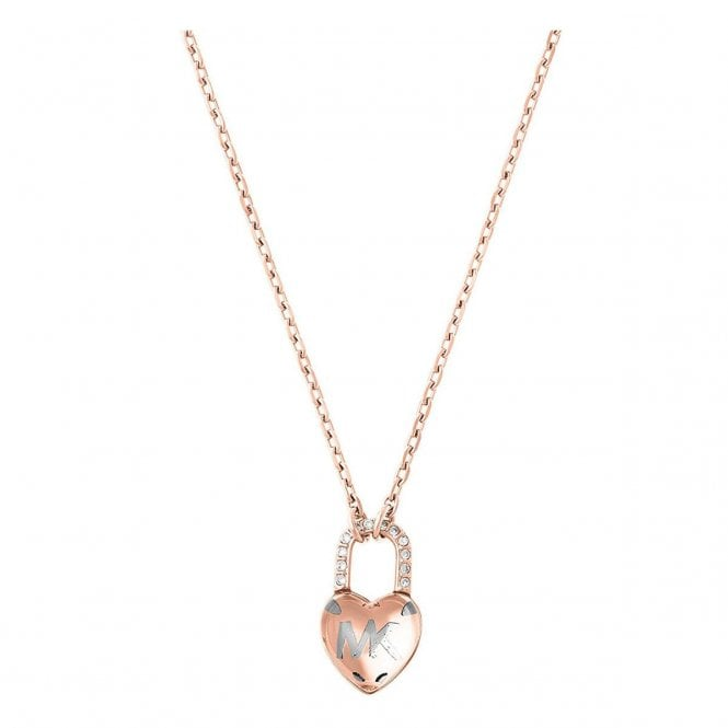 Michael Kors Jewellery Michael Kors Rose Gold Plated Logo Necklace Jewellery From Market Cross Jewellers Uk