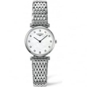Longines Ladies Stainless Steel La Grande Classique, Diamond Indexes