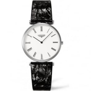 Longines Men's La Grande Classique Black Leather Strap