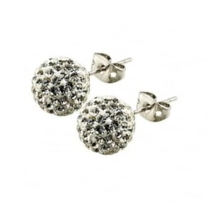 Tresor Paris  Tassily' White Crystal Earring - 016068