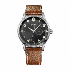 Hugo Boss Mens Leather Watch 1512723