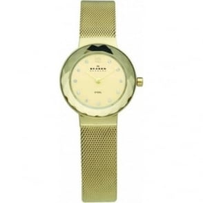 Skagen Ladies PVD Gold Tone Watch 456SGSG