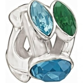 Chamilia The Swarovski Collection Splendid Marquis Blue & Green Charm 2083-0460