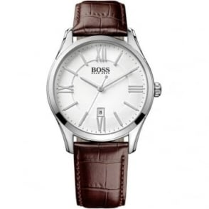 Hugo Boss Mens Brown Leather Strapped Watch 1513021