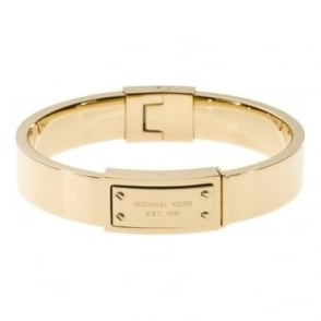 Michael Kors Jewellery Logo Plaque Gold Bangle