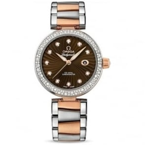 Omega Ladymatic Diamond Set Rose Gold Co-Axial 34mm - 425.25.34.20.63.001